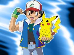 Trainer Ash mit Pokémon