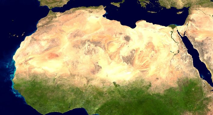 Sahara Satellitenbild