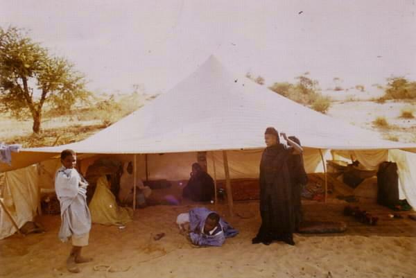 Weißes Zelt